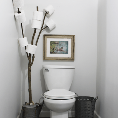 How to Create a Rustic Bathroom Branch Toilet Paper Holder