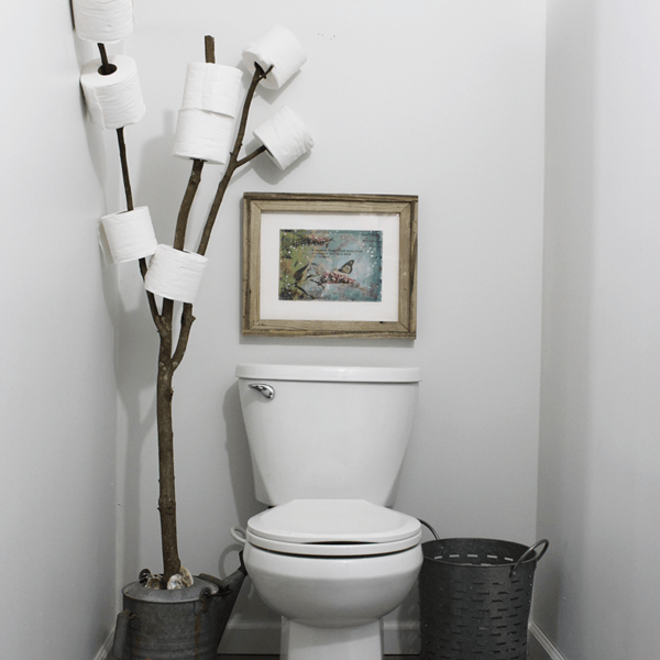 Rustic Bathroom Branch Toilet Paper Holder