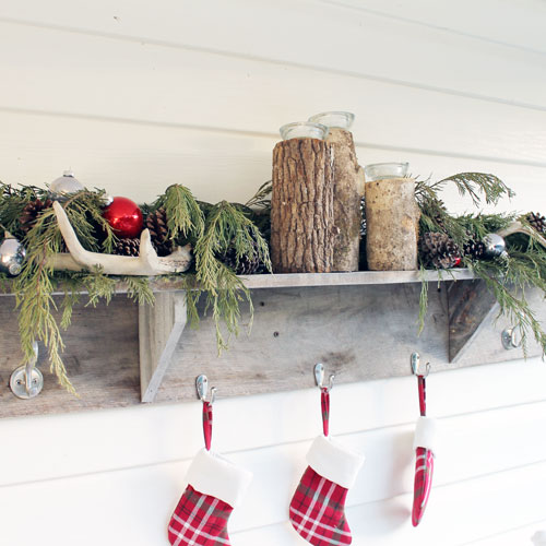 Rustic Holiday Front Porch Ideas