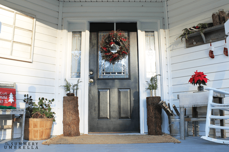 rustic holiday front porch ideas 5