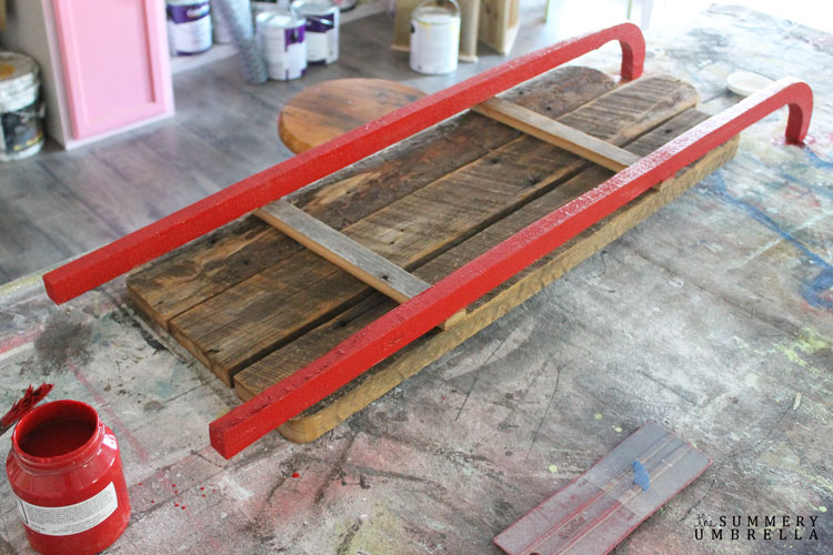 diy wooden sleed