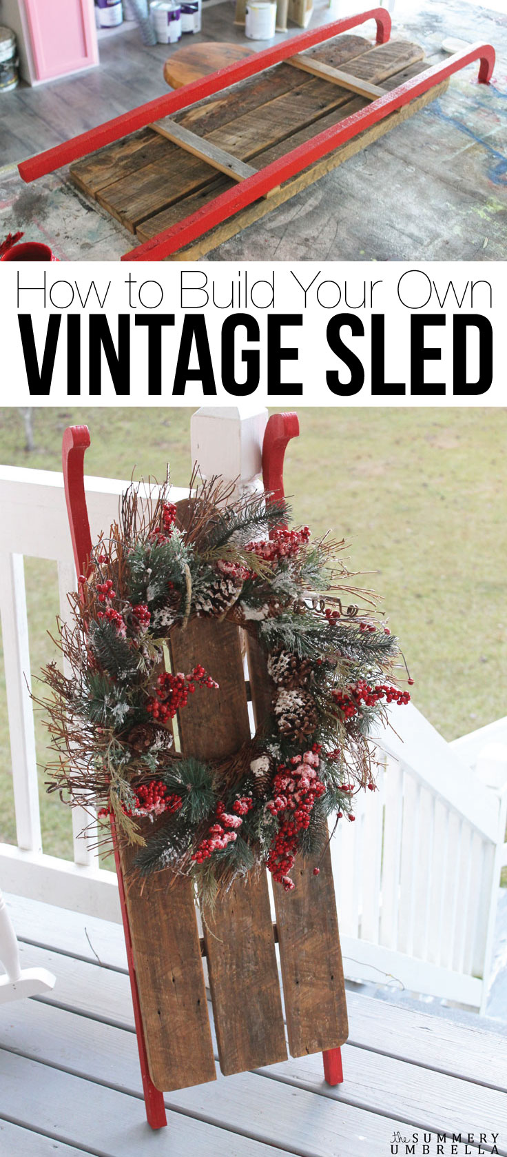 Have you been craving your very own vintage sled, but need a more wallet-friendly version? Don't miss out--full details right this way! Here's how to make your own DIY sled - cheap.