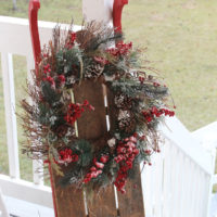 diy christmas sled