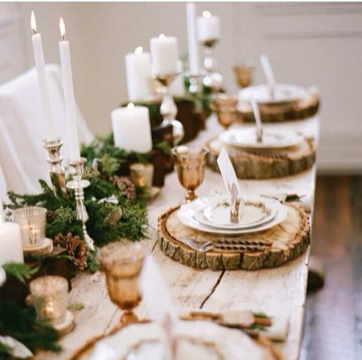 rustic christmas wood centerpiece