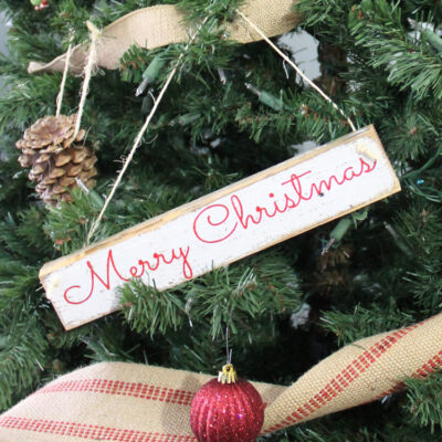 How to Create DIY Christmas Ornaments Out of Wood Signs