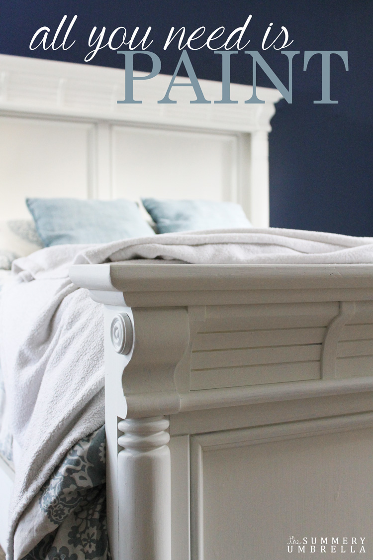 You are not going to believe how UGLY this bed used to be in my master bedroom, but with a little paint it is now a true beauty. See how I did it NOW!