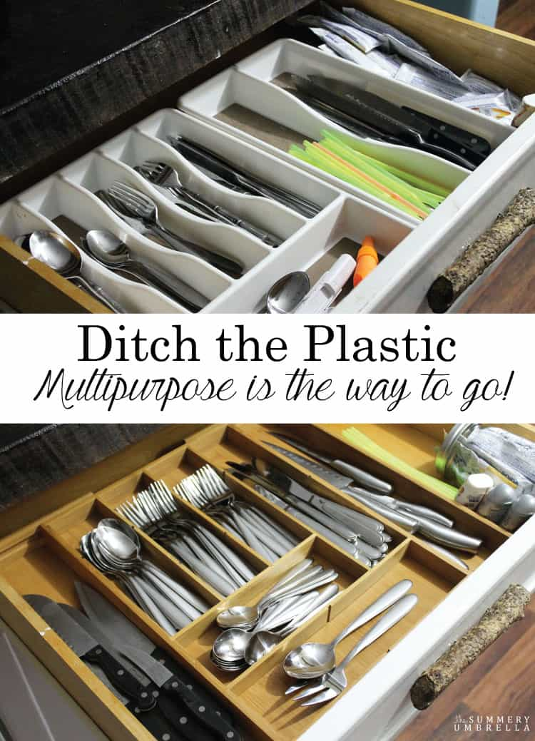 Ditch the Plastic! It's time to upgrade to a multipurpose drawer organizer and NOW. Trust me, you'll thank your future self!