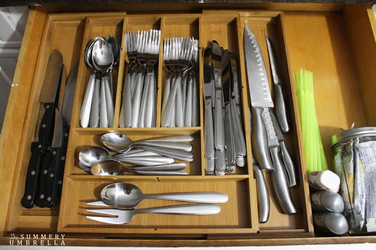 Ditch the Plastic! It's time to upgrade to a multipurpose silverware drawer organizer and NOW. Trust me, you'll thank your future self!