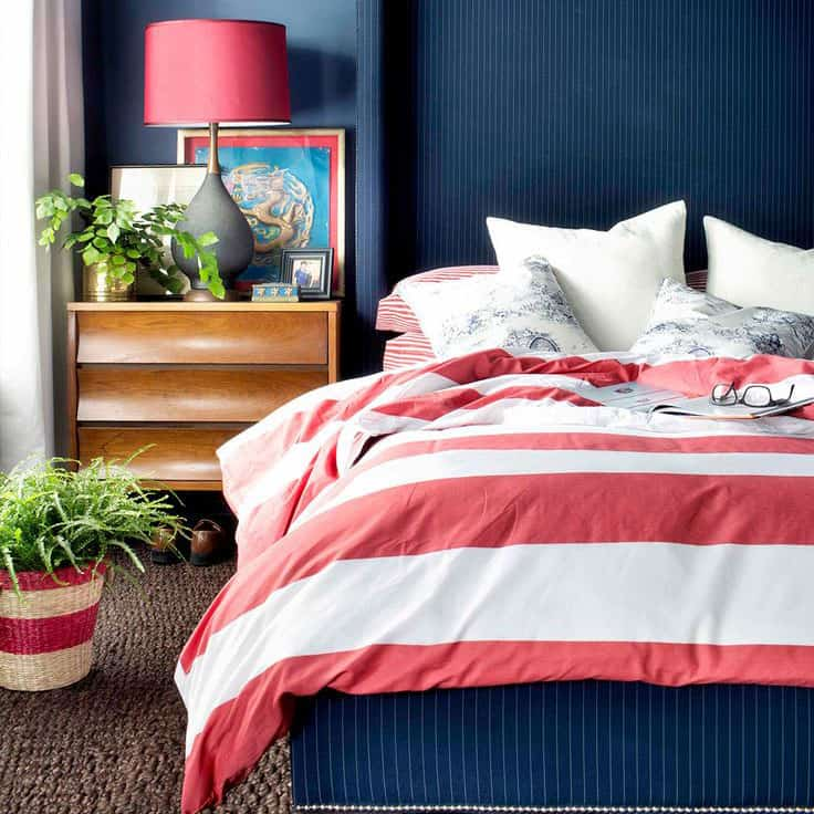 Few of My Favorite Things–Navy Blue Bedrooms