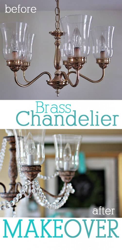 Brass-Chandelier-Makeover-with-Paint