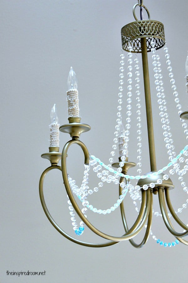 beaded chandelier diy