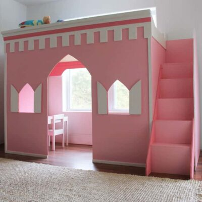 How to Build a Princess Castle Loft Bed (Remodelaholic)