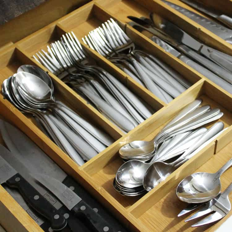 Ditch the Plastic! Try a Multipurpose Silverware Drawer Organizer