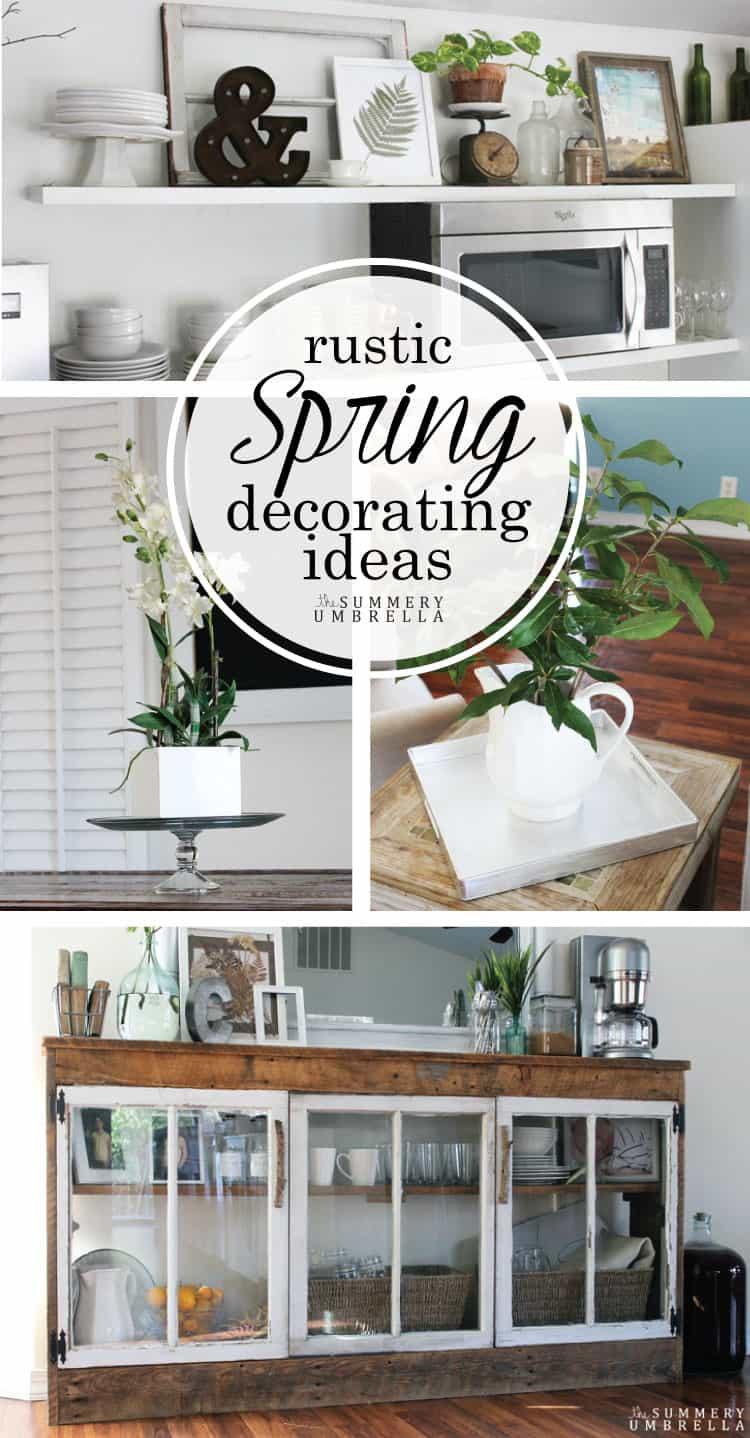 Are you ready for Spring? Then definitely check out this gorgeous and rustic spring decorating ideas that will motivate you to start NOW!