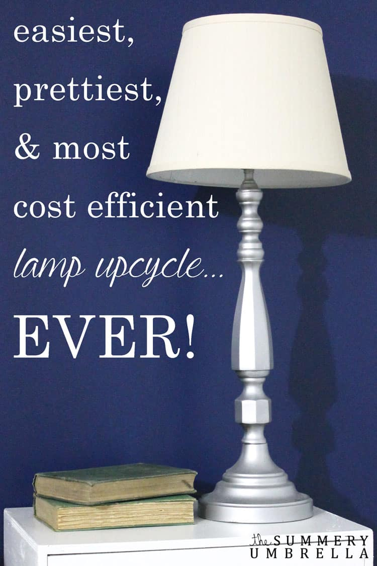 This is by far the easiest lamp upcycle EVER! All you need is a few simple items, and you too can create this gorgeous beauty right NOW!