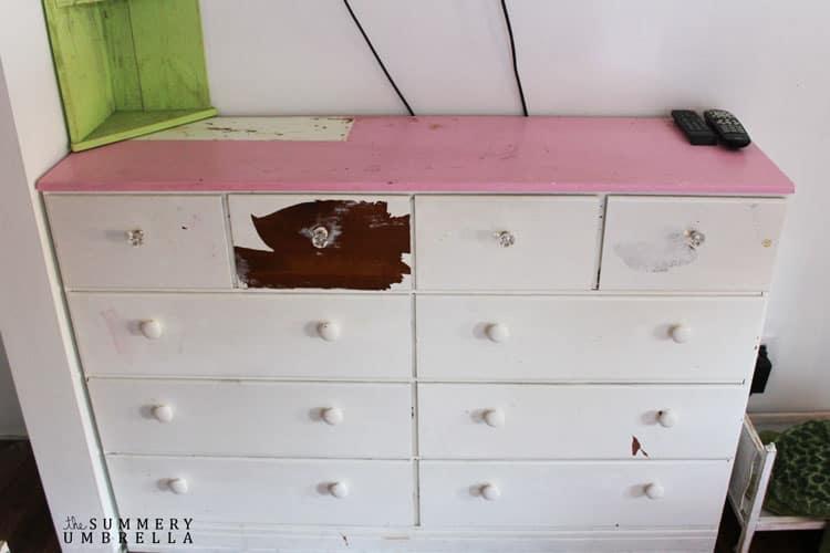 diy vintage dresser makeover