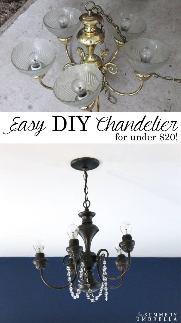 Life is complicated enough as it is so your home decor not only needs to be beautiful but easy to create as well! Try this DIY Chandelier for an easy update