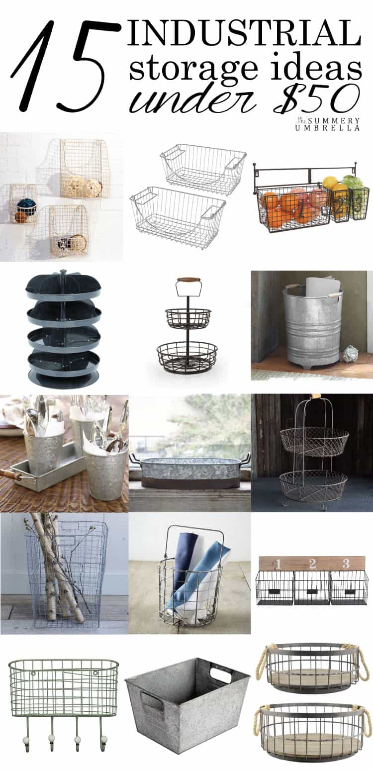 Have you been craving gorgeous and affordable industrial storage ideas? Let me show you my top 15 picks for under $50 on the blog NOW!