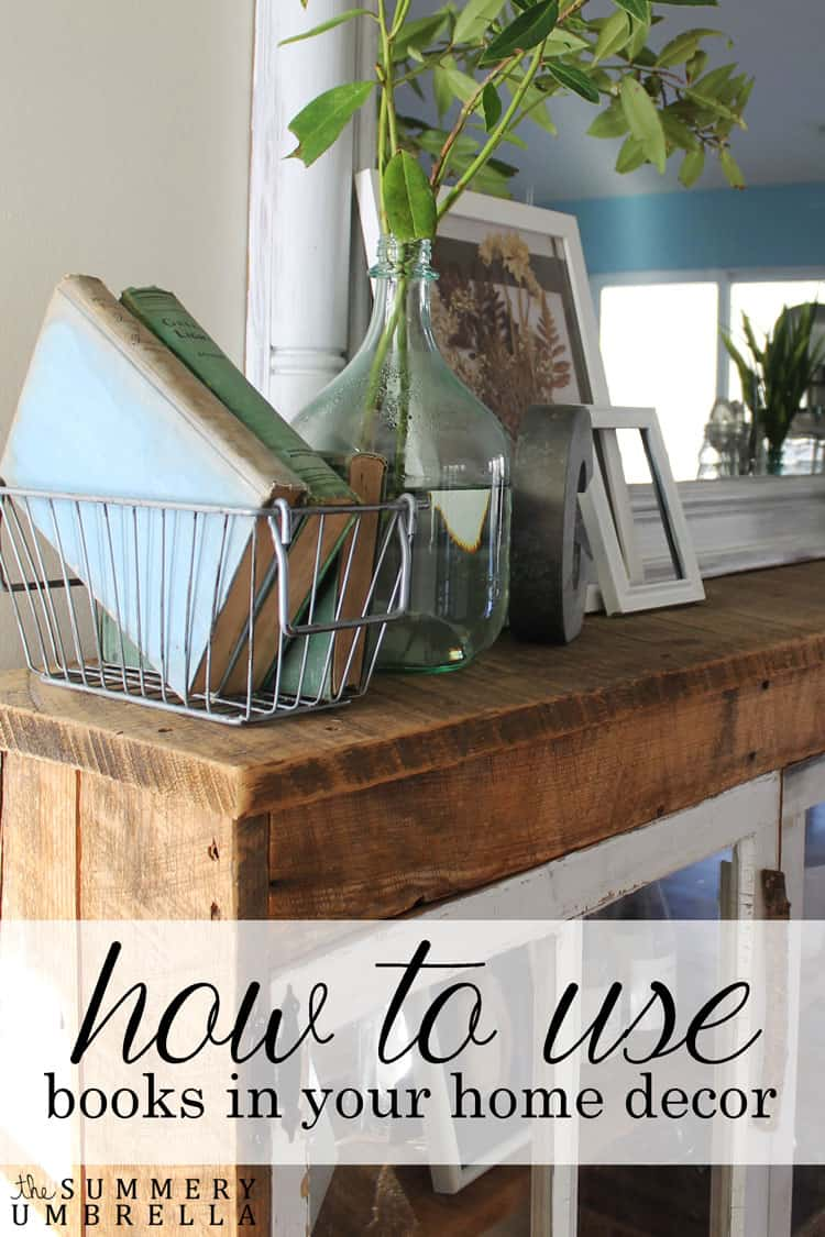 There are so many different and interesting ways you can use books in your home decor. Let me show you my 10 favorites in today's post!