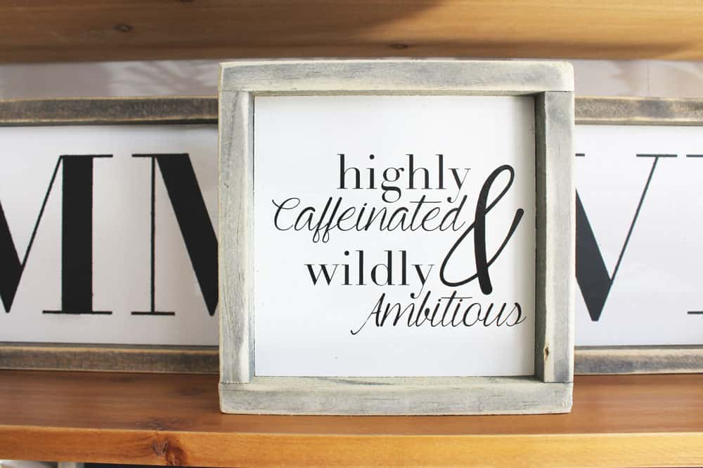 Sometimes you just need a mini sign for your desk at work, or even for a sweet gift for a close friend. So, definitely check out the new collection NOW!