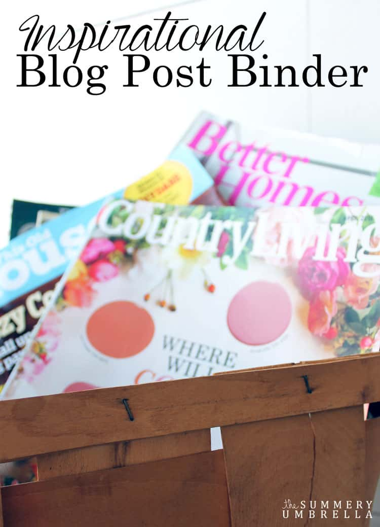 Keep all of your blog post ideas organized with this super, simple method! Check out today's post to see how I created my own Inspirational Blog Post Binder
