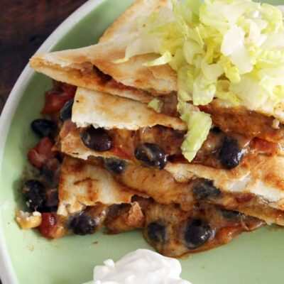 My Single Serving Cheese Quesadilla Recipe