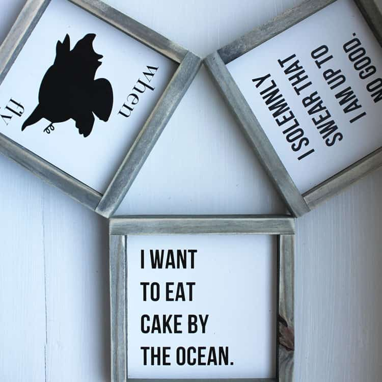 Yummy New Mini Sign Collection