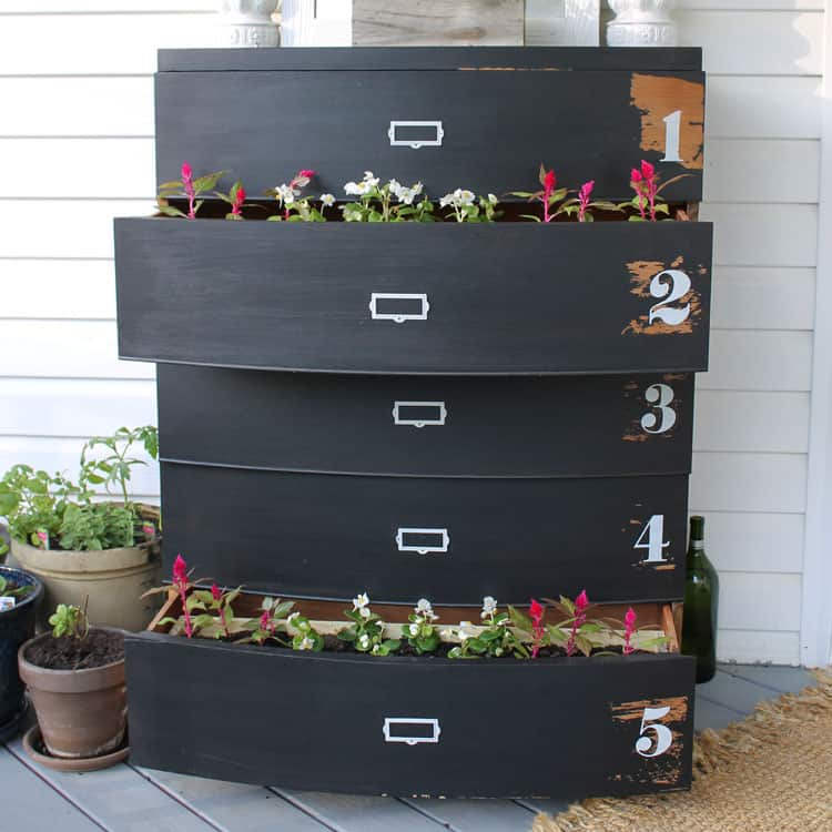 The Folksy Tale of My DIY Flower Planter Dresser