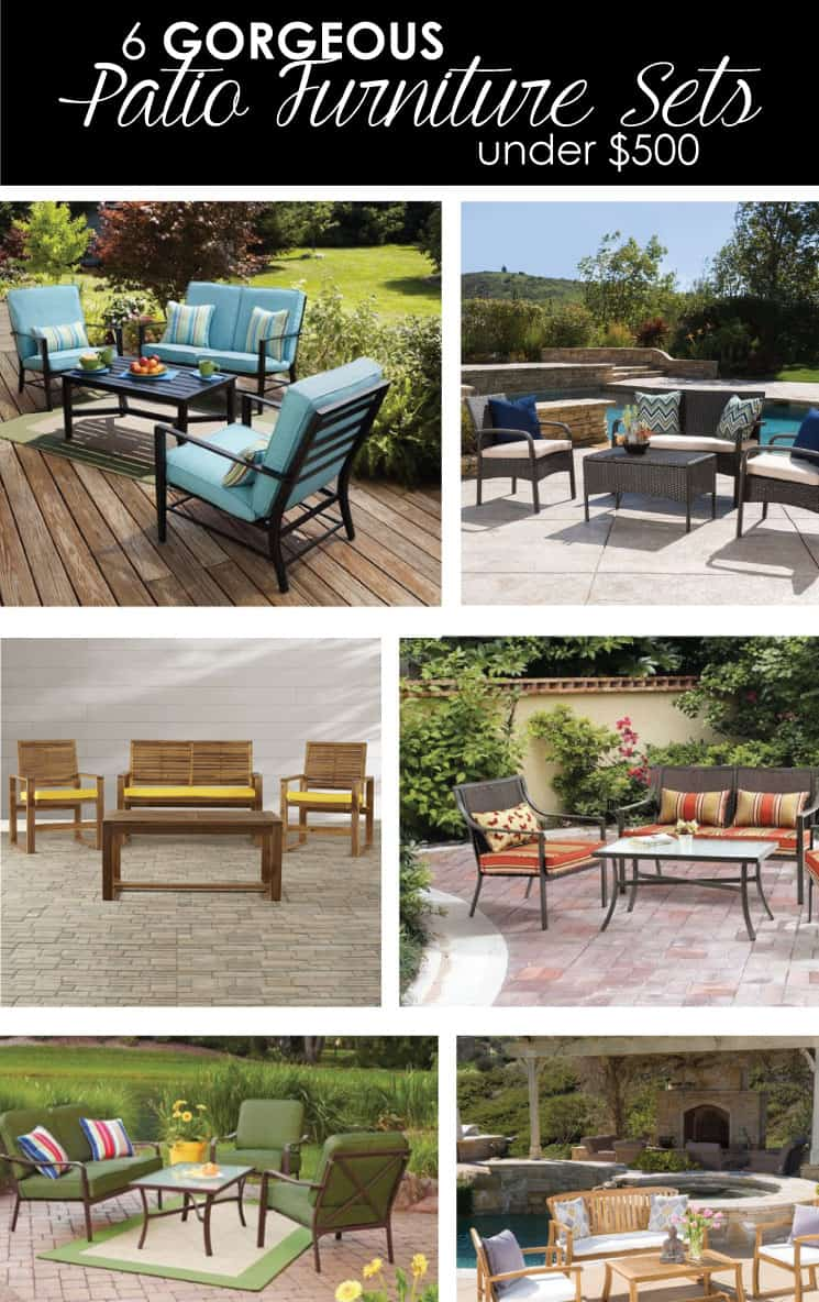 You will definitely WANT to check out these absolutely gorgeous patio furniture sets that are also under $500!! MUST READ!