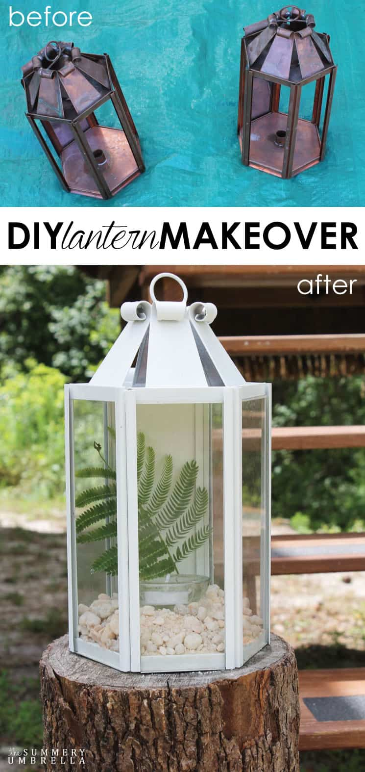 Your friends will think you spent A LOT of money when they see your new DIY lantern makeover! However, this beauty isn't only easy, but budget-friendly too!