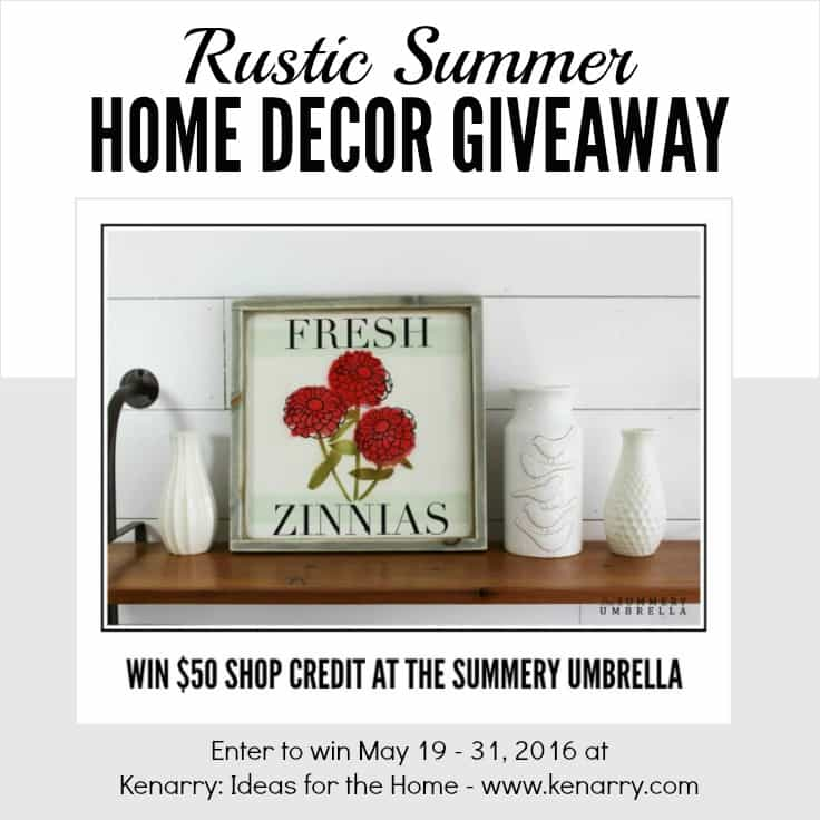 Enter now for a chance at winning a $50 shop credit in my shop! P.S. It includes my new Summer Sign Collection full of colorful summer inspiration.