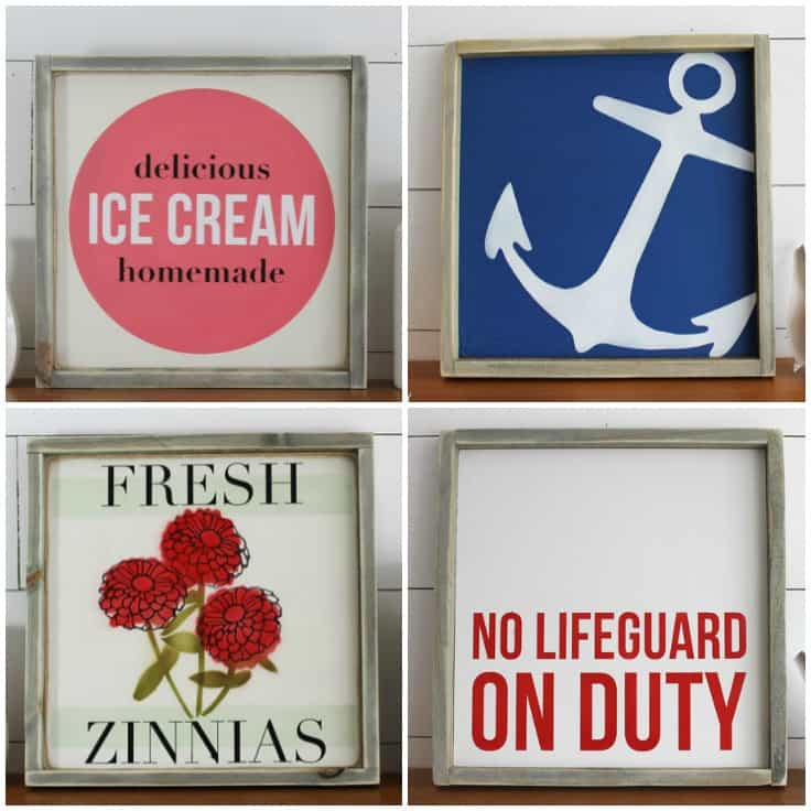 Summer Home Decor Signs for a Rustic Modern Look + GIVEAWAY
