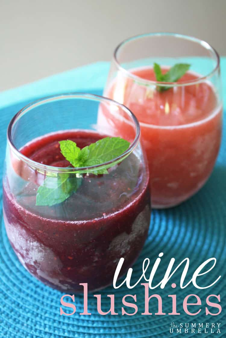 This refreshing wine slushies recipe is sure to be a party favorite! Create it using your favorite fruit or with a mixture of a few. MUST READ!
