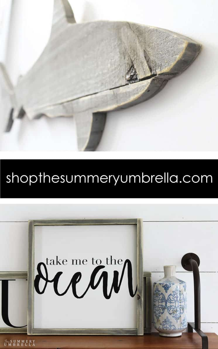 beach inspired home decor the summery umbrella. Black Bedroom Furniture Sets. Home Design Ideas