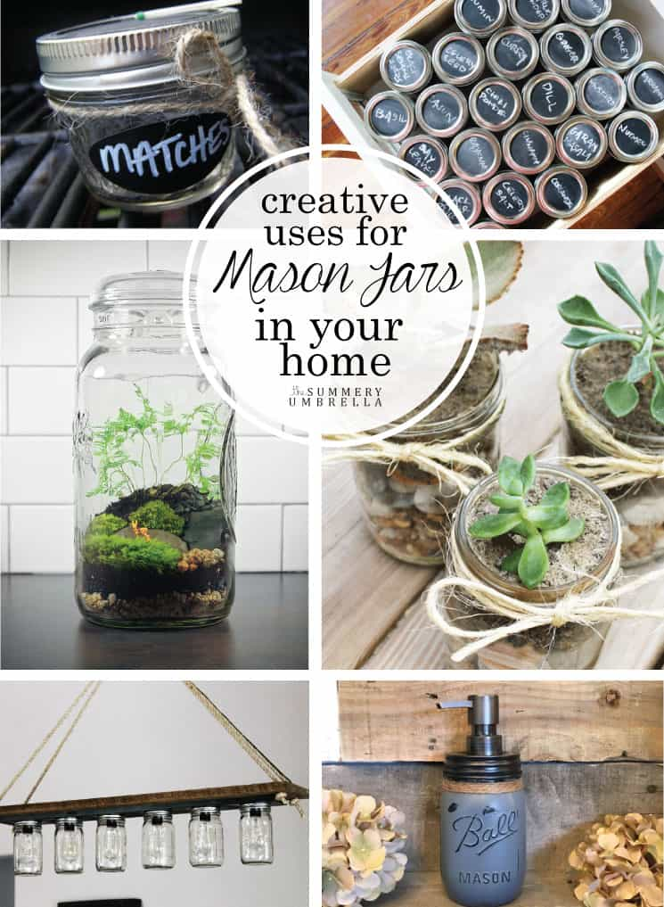 There are so many creative uses for mason jars in your home! Let me show you just how simple they are, and how to make a few too. MUST SEE NOW!
