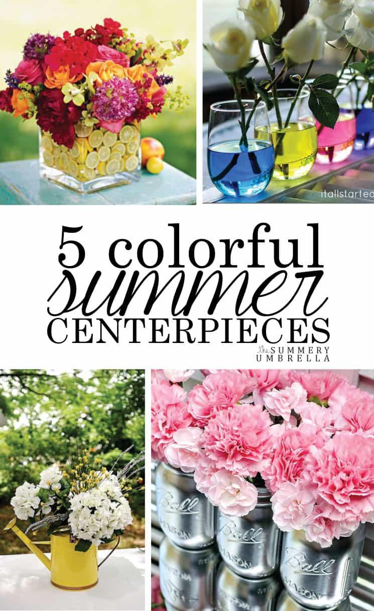 Colorful summer centerpieces the summery umbrella