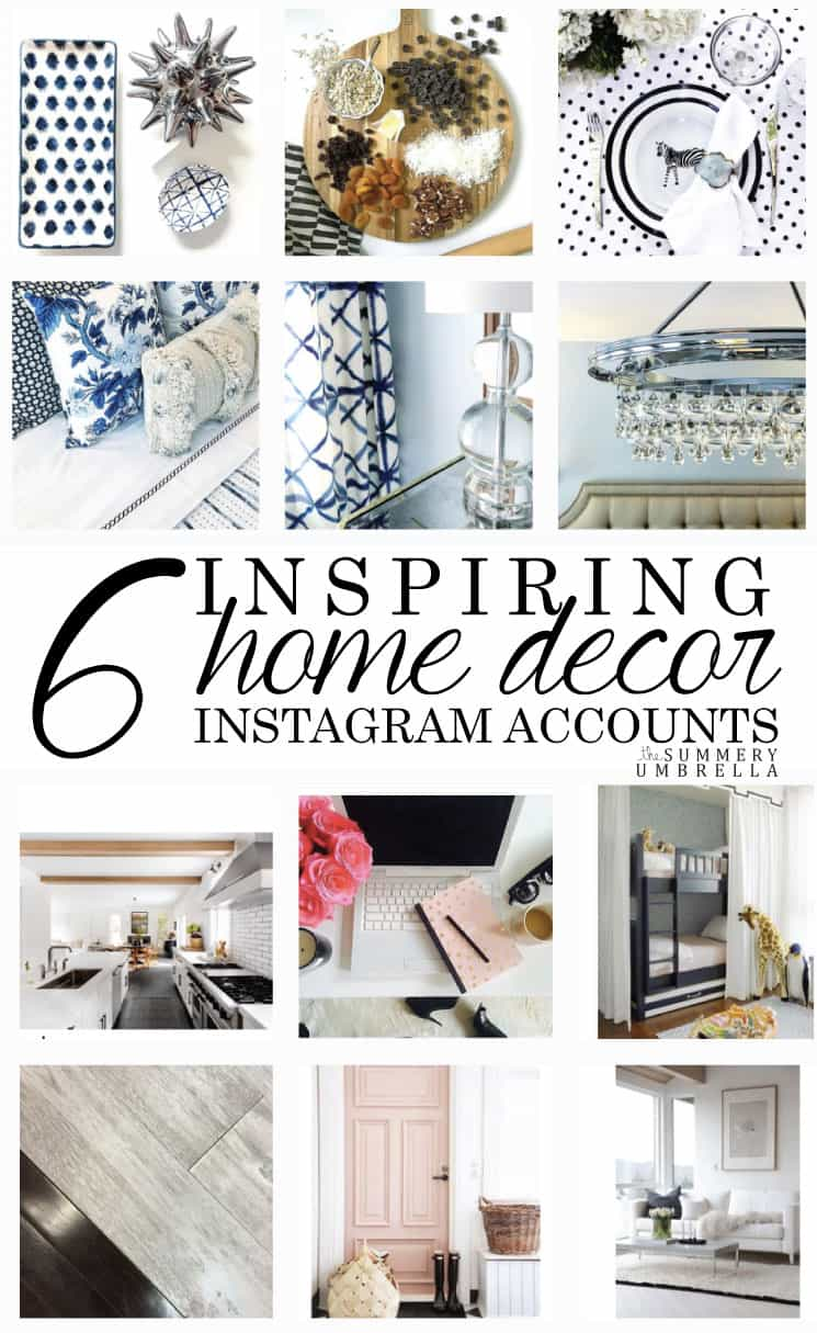 Do you love Instagram as much as we do? Than you will most definitely WANT to check out this amazing list of inspiring home decor accounts!