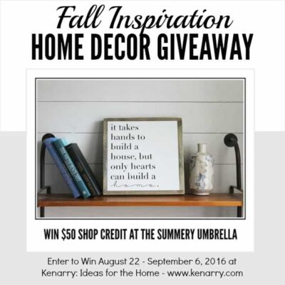 Fall Inspiration Home Decor Sign Giveaway