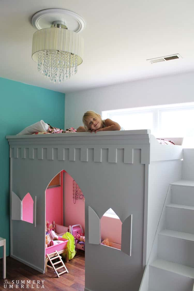 Sometimes all you need is a little bit of paint to completely transform a room. This was definitely the case with this princess castle loft bed makeover!