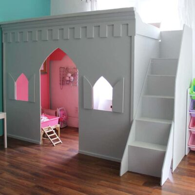 Princess Castle Loft Bed Makeover