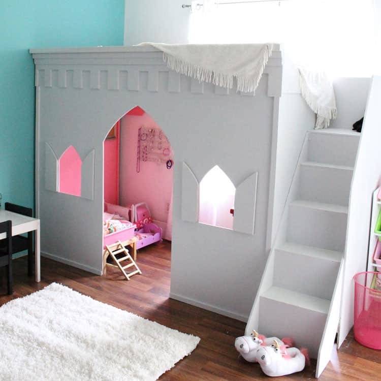 Hot Pink And Turquoise Girls Bedroom Makeover: Aqua And Pink Girl's Room Makeover