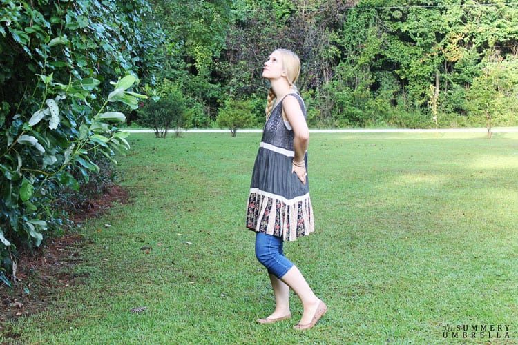 Fashion Friday: This week I'm sharing this absolutely gorgeous Dark Gray End of Summer Stroll Tunic/Dress from Glamour Farms.