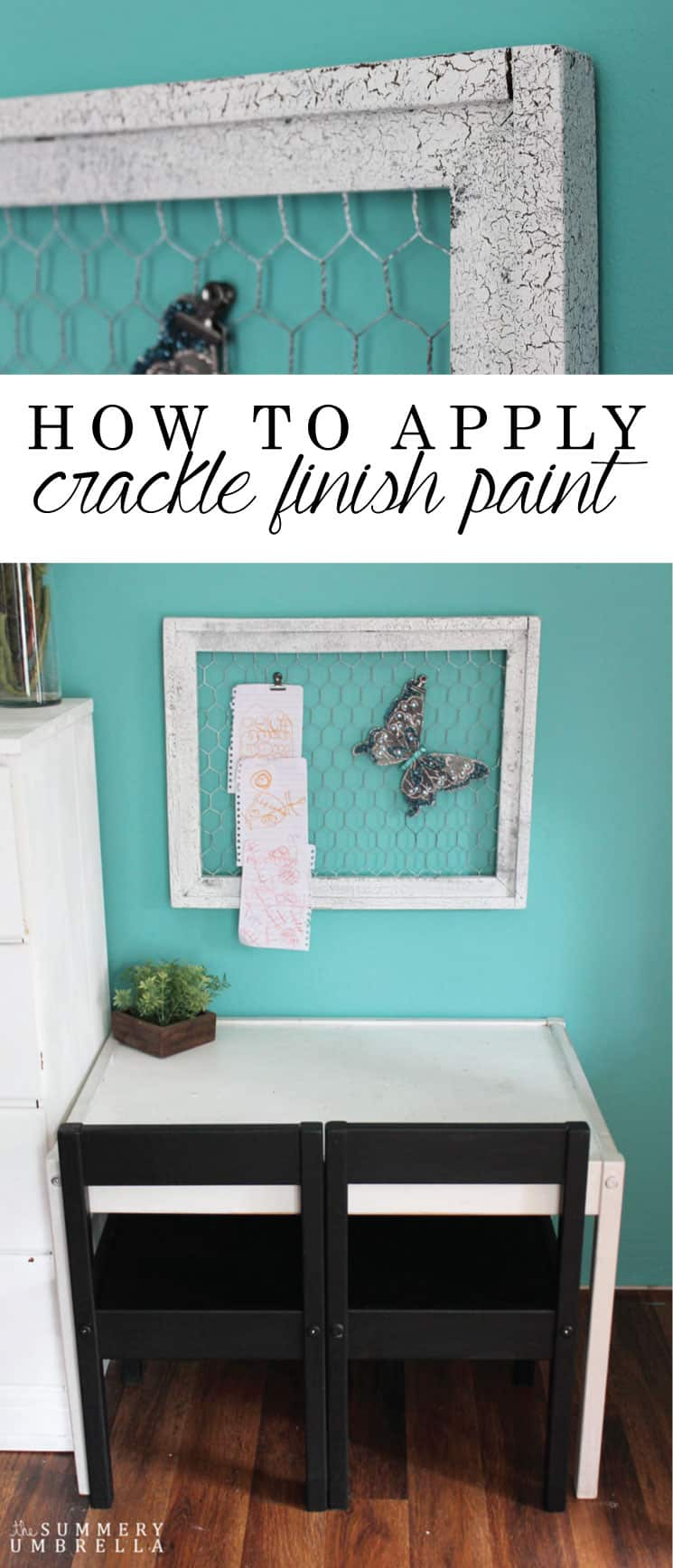 Do you love that chippy paint look? I'm truly amazed with my DIY results, and want to show you how to apply crackle finish paint on the blog today!