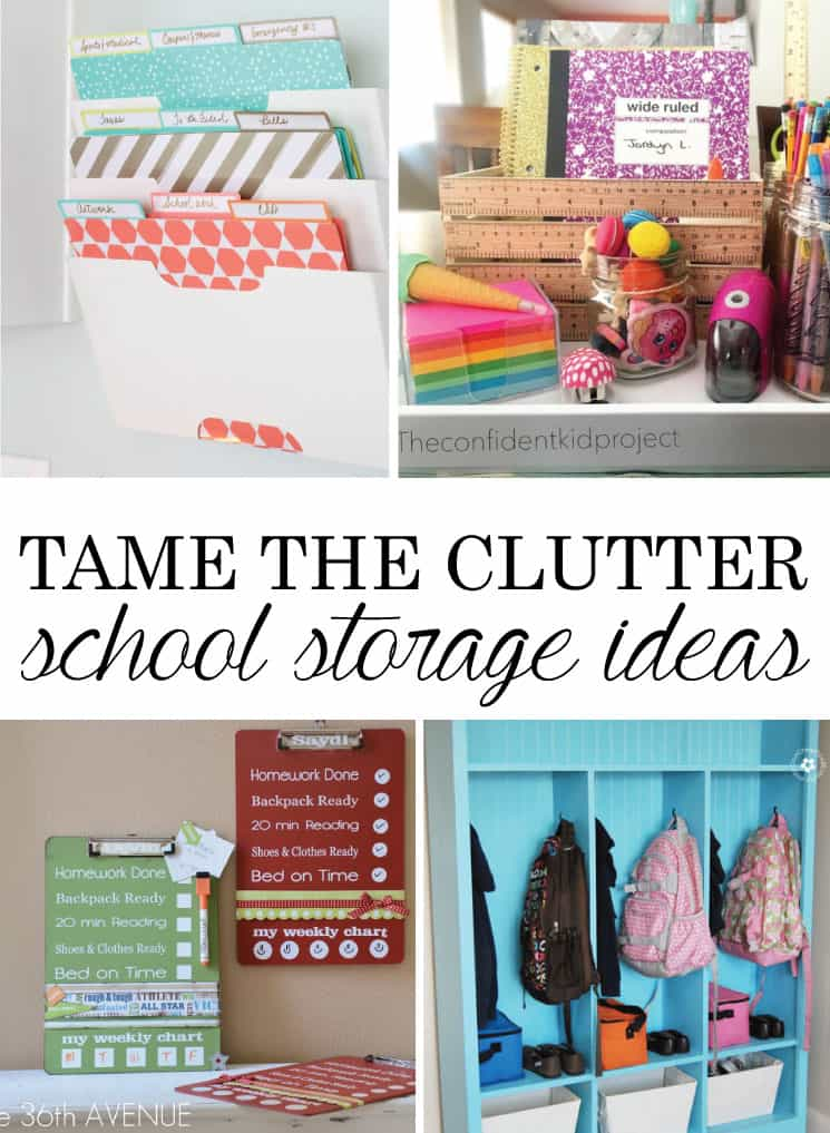 Tame the Clutter: 9 Back to School Storage Ideas You Need