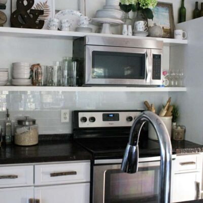 The Easiest Kitchen Backsplash Ever