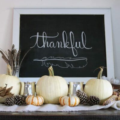 Simple and Rustic Fall Table