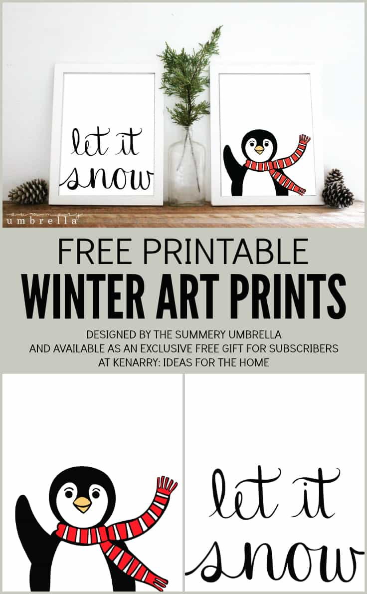 Yes. You saw the title correctly. Get your very own FREE Winter Art Prints Just For YOU on the blog today. All you need is a printer and a few frames!