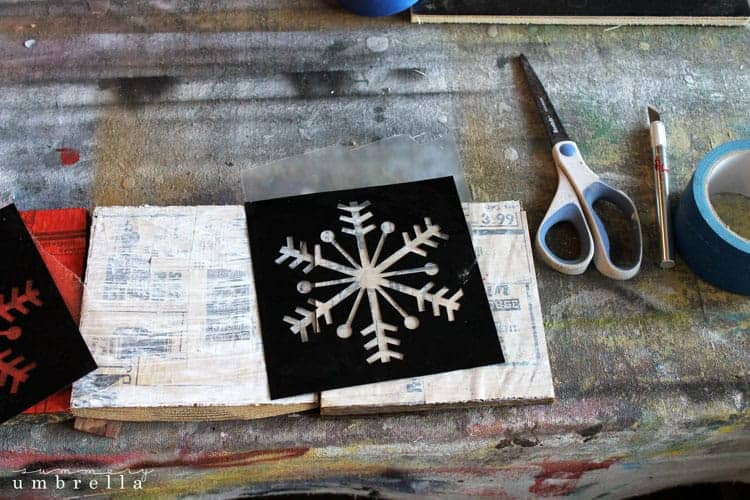 DIY Wood Snowflake Sign