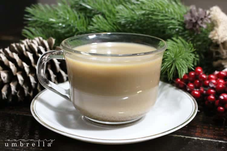 During this time of the year I'm not only a coffee junkie, but I kind of turn into an eggnog-in-my -coffee-fanatic as well. Anybody else?