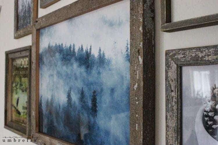 I've been wanting to change up my dining room area for awhile now, and I've finally finished this gorgeous rustic woodland wall gallery. Come see now!